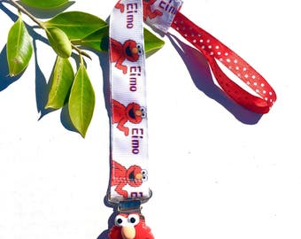 ELMO Baby girl Paci clip  - Pacifier Clip - Soothie Clip - Pacifier Holder - Fits all Pacifiers - Baby Shower Gift Baby clothes