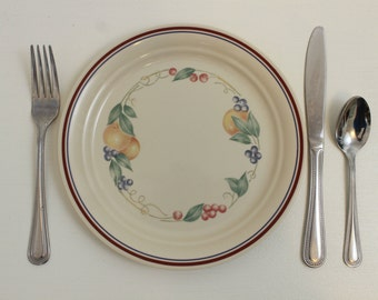 "Corelle by Corning, Abundance, Luncheon Plate, 8-1/2"", Microwavable, No Broiler or Stovetop, Made in USA, Dinnerware, Salad or Dessert Plate"