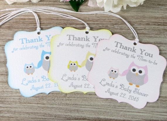 Owl baby shower favor tags owl favor tags girl baby shower thank you tag thank you for - Baby shower favor tags ...