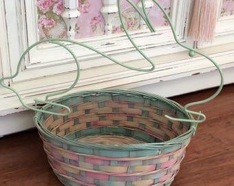 SALE   Pastel Bunny Basket