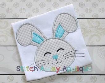 Bunny Boy Face Easter Machine Applique Design