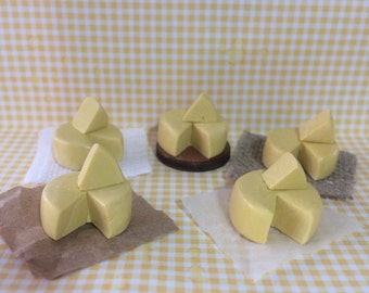 Dolls House Miniature Cheddar Cheese. - handmade