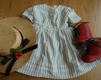 DO NOT ORDER ... Special Order Reserved for Suzie ...American Girl Pleasant Company Kirsten's Summer Dress, Straw Hat & Red Boots ...Retired