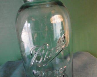 Vintage Ball Blue Perfect Mason Canning Jar, 2 Quart Size, No Lid Vintage Jar Floral jar decorating jar