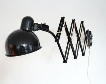 Wall mounted mid century German scissor lamp