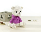 PATTERN: Teddy Bear in a Hoodie - Classic 4-way jointed teddy bear (EN-074)