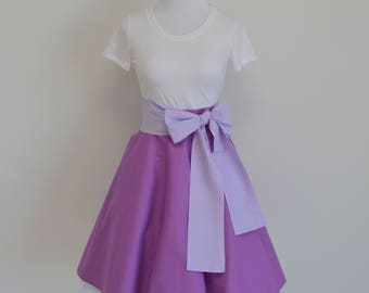 Disney's Tangled Rapunzel Inspired Violet Purple Circle Swing Skirt and Sash