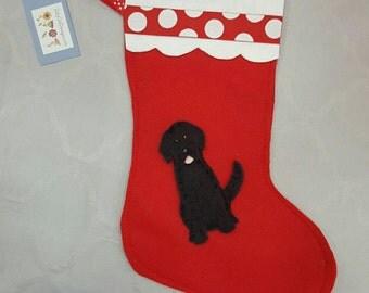 Black Lab Christmas Stocking,  dog Christmas, Lab Christmas, Lab stocking,  decorations, Christmas sock,  Labrador Retriever  art