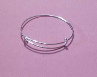 Set of 2 DIY ~ Adult Wire Bracelets for Charms ~ Great for DIY or Have Bracelet Party With Your Friends!