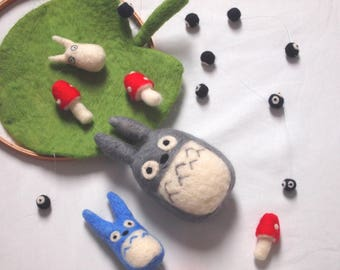 Totoro and Friends (needle felted)