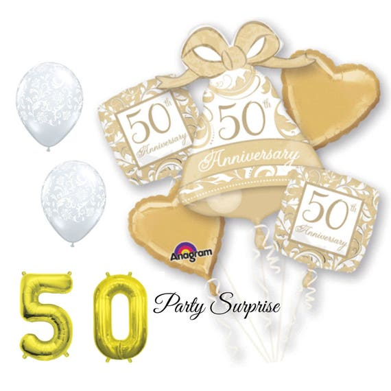 50th anniversary balloon package 50th anniversary balloons for 50th birthday decoration packages