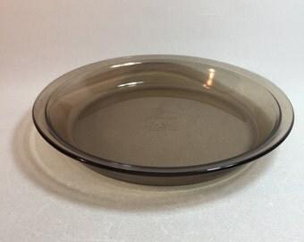 """Vintage Brown Visions Pyrex 9"""" Pie Plate"""