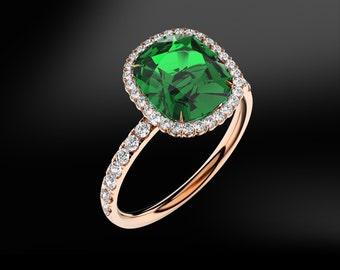 Emerald, Tanzanite, Ruby, Spinel, Amethyst & DIAMOND Gold Ring