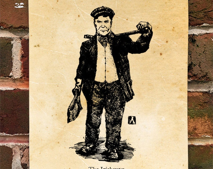 "KillerBeeMoto: Limited Hand Drawn Print of ""The Irishman"" Print 1 of 100"