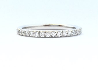 18k white gold full diamond eternity band in French setting
