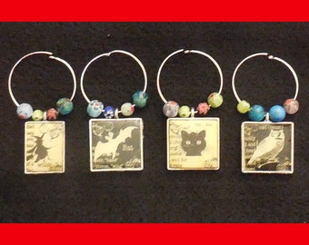 Bewitching Wine Glass Charms ( Set of 4 )
