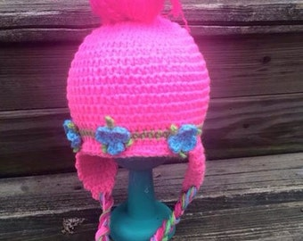 Poppy Troll inspired hat..troll hat