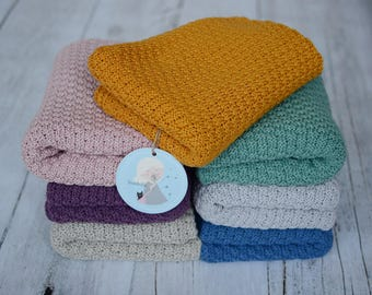 Soft cotton baby blanket 70x100 cm