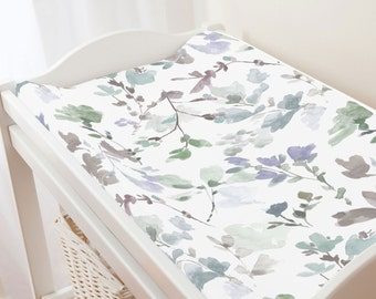 Carousel Designs Soft Wildflower Changing Pad Cover