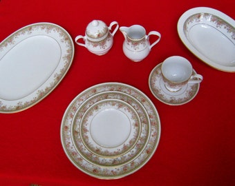 Vintage Noritake Morning Jewel 84-pc Fine China Dinnerware - Made in Ireland - MINT