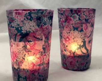 "Candles to choose from in the ""English Rose"" collection"