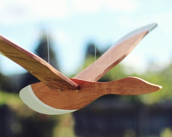 Wooden Flying Bird Mobile