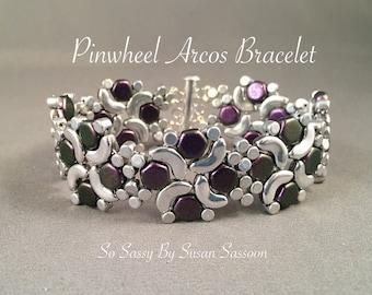 Pinwheel Arcos Bracelet Tutorial