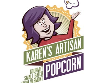 3 Large Popcorn Bag SALE - DISCOUNT - Gourmet Popcorn - Made in Vermont - Karen's Recipe is Buttery, Crunchy and SO Delicious!