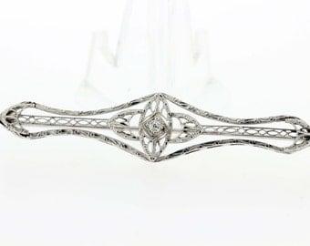 18K Gold Diamond Brooch