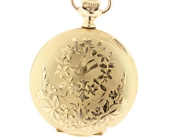 Gold Filled Ladies Waltham Pocket Watch