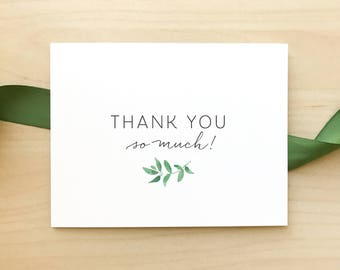 Wedding Thank You Cards / Greenery Minimalist Suite / Clean, Classic, Elegant Weddings / #1123