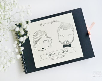 "Custom Guest Book ""We lived happily"""