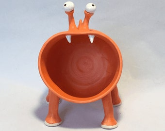 Melvin the Orange Candy Dish Monster