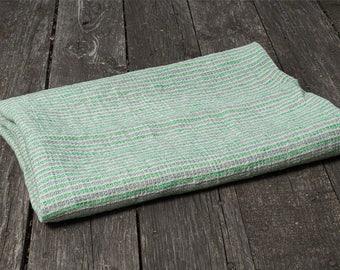 Green linen bathroom towel, gray linen towel, pure linen towel, rustic linen towel, gray flax towel, eco friendly towel, flax bathroom towel