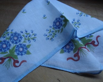 Vintage Handkerchief # Cotton Print# Fleamarketbuzz