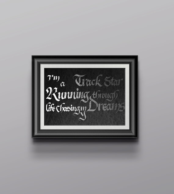 Inspirational calligraphy quote poster