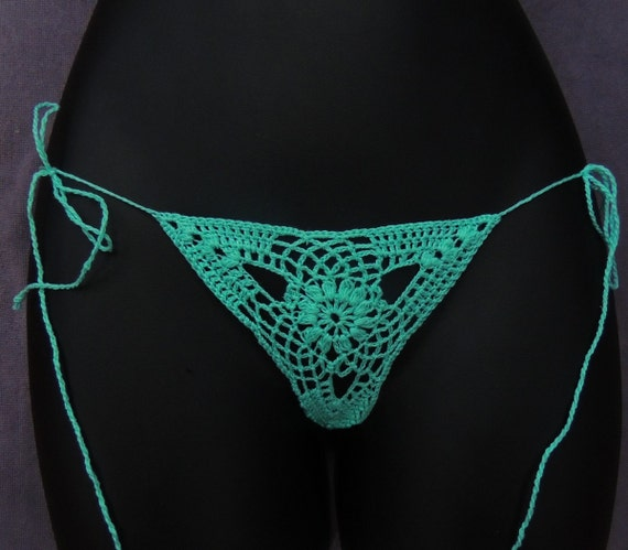 Cotton lace lingerie,Sexy Crochet Bottom, See Thru Thong, Low Rise Thong,  Sexy Beach Bottom, Erotic Crochet Thong, Hot Thong 4 Beach & Pool