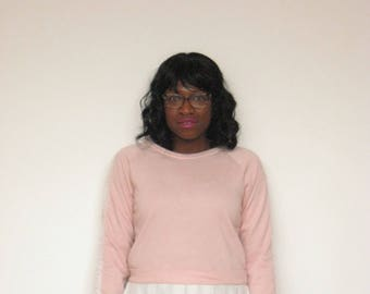 Baby Pink Skirted Sweater With Pearls