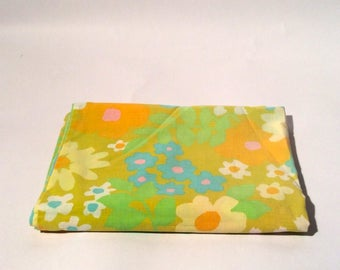 Vintage 1960s Mod Floral Super Soft Standard Pillowcase