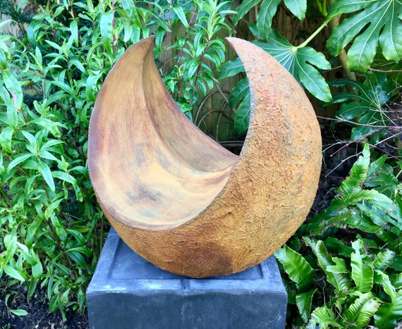 Curvation-rusted iron -Limited Edition bronze and resin sculpture