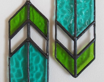 Stained Glass Arrow (Green - Set of 2)