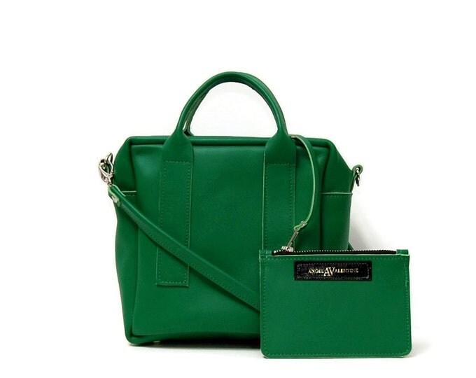 Featured listing image: Box Bag in Italian Green // mini cross body bag // more colors