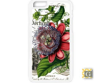 Galaxy S8 Case, S8 Plus Case, Galaxy S7 Case, Galaxy S7 Edge Case, Galaxy Note 5 Case, Galaxy S6 Case - Passion Flower Vintage