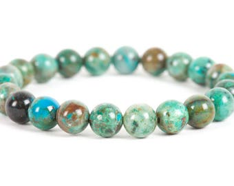 Chrysocolla Gemstone, Stretch Bracelet, unique-gift-for-wife, holidays, fashion, Gemstone Bracelet, Handmade Jewelry, Gemstone Jewelry