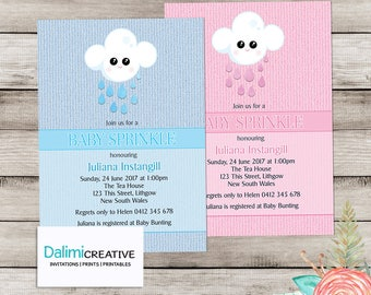 Baby Shower Invitation - Baby Sprinkle Invitation - Blue or Pink Baby Shower Invite - Beautiful Shower Invitation - Printable Invitation!