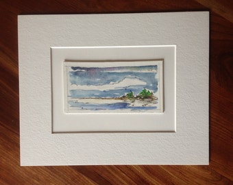 One Summer - Original Acrylic & Ink on Board - Matted