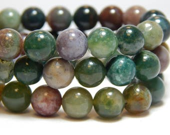 8mm Fancy Jasper, Full Strand, 8mm Fancy Jasper Beads, 8mm Gemstone Beads, Fancy Jasper, Gemstones, Natural Stone Beads, 8mm Stones, B-19B