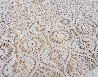 Cording lace ,leaf and flower lace fabric,Eyelash lace fabric White wedding Lace /  1.5m*1.5m white Wedding Lace Fabric,cotton  lace fabric