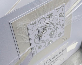 Personalised Boxed 1st Wedding Anniversary Card for Son, Daughter, Husband, Wife, personalised for other anniversaries