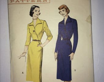 1950's Butterick pattern No. 5829 Plus Size 44